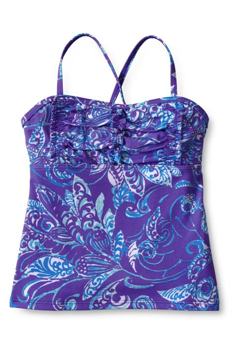 Girls Ruffle Bodice Tankini Top