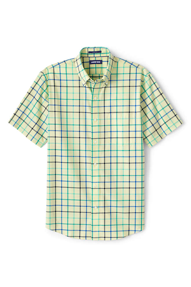 Men's Big & Tall Short Sleeve Traditional Fit No Iron Sportshirt, alternative image