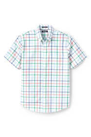 Men's Tall Short Sleeve Traditional Fit No Iron Sportshirt