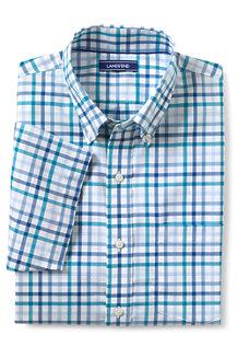 メンズJ・ノーアイロン・ブレザーシャツ/ボタンダウン/半袖