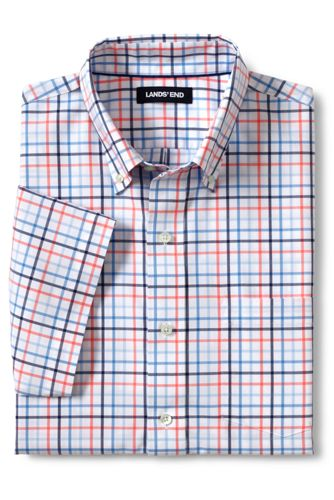 メンズ・ノーアイロン・ブレザーシャツ/ボタンダウン/半袖
