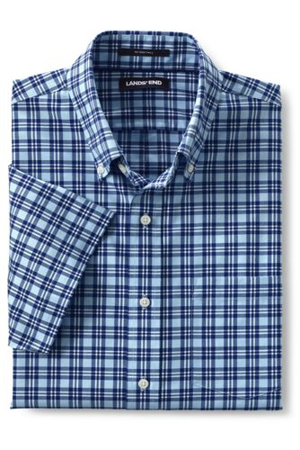 Men's Short Sleeve Traditional Fit No Iron Sportshirt