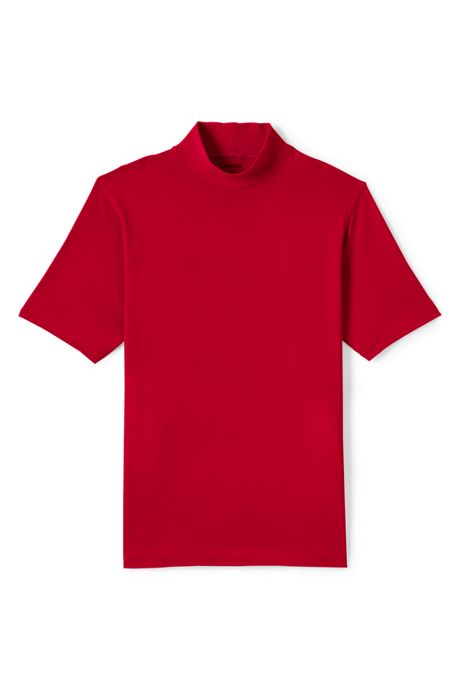 Men's Short Sleeve Super-T Mock Turtleneck