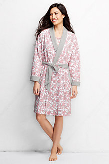 Women's Reversible Jersey Dressing Gown