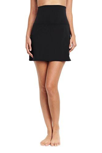 La Jupette de Bain Gainante Unie Taille Haute, Femme Taille Standard