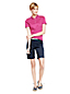 Women's Regular Print Slim Fit Pima Polo