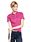 Women's Petite Print Slim Fit Pima Polo
