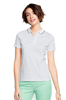 Women's Print Slim Fit Pima Polo