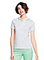 Women's Regular Short Sleeve Patterned Tipped Collar Pima Polo Classic Fit