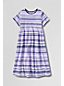 Little Girls' Short Sleeve Gathered Jersey Dress