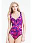 Slendertex® Badeanzug Aquarell-Print mit Herz-Dekolleté für Damen