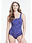 Mastektomie-Komfort-Badeanzug mit Blattmuster für Damen