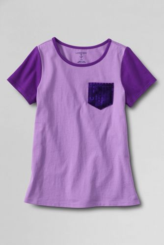 Little Girls' Sequin Pocket Tee