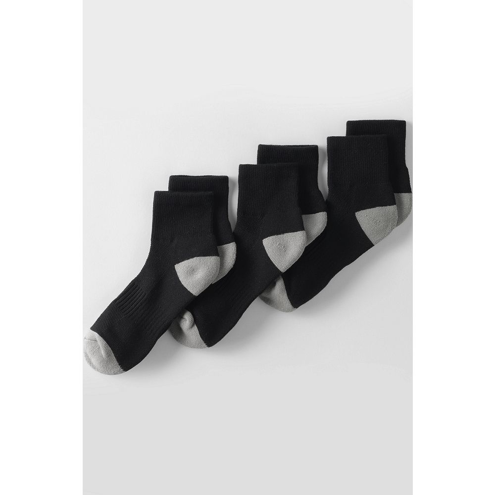 Lands' End Performance Athletic Ankle Socks (3-pack) at Sears.com