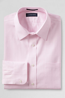 Men's Tailored Fit Easy-iron Straight Collar Textured Shirt