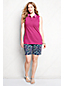 Women's Plus Classic Fit Sleeveless Tipped Collar Pique Polo