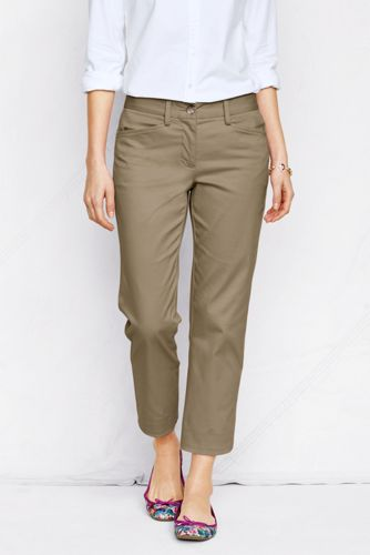 7/8-lange Stretch-Chinos für Damen in Plusgröße