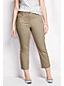Women's Plus Plain Stretch Chino Crops