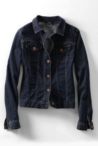 Jeansjacke aus Indigo-Denim für Damen
