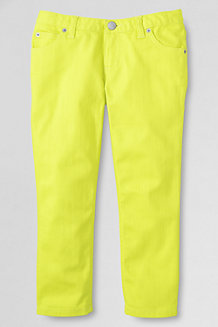 Girls' Coloured Denim Five-pocket Capris