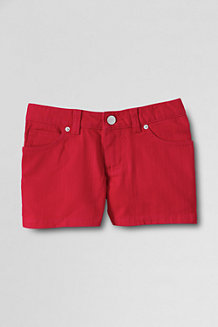 Girls' Coloured Denim Shorts