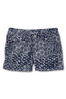 Gemusterte Denim-Shorts für Mädchen