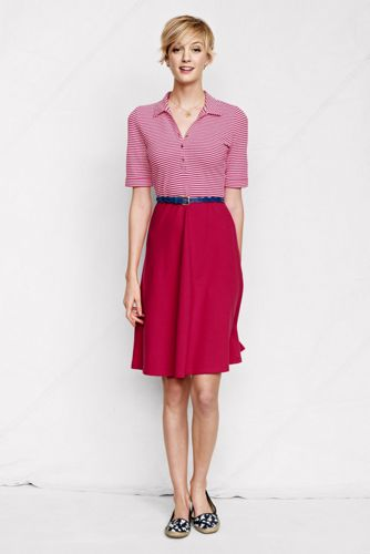 Women's Regular Waisted Piqué Polo Dress