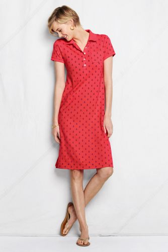 Women's Regular Nautical Pique Polo Dress