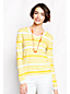 Women's Regular Supima Striped V-neck Jumper