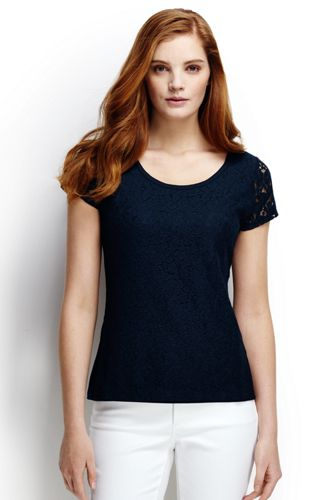 Women's Regular Lace Front Tee