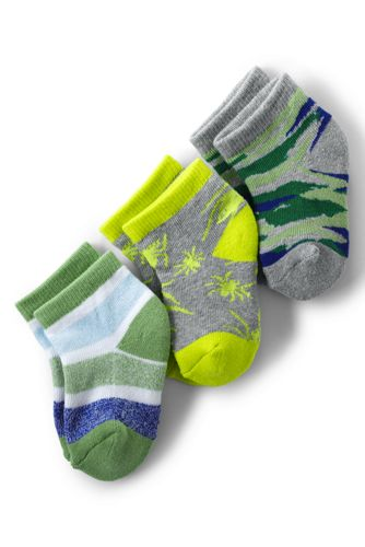 Boys' Patterned Sports Socks (3-pack)