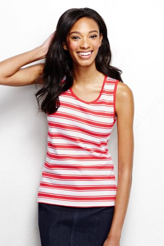 Women's Regular Striped Cotton Vest Top