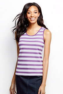 Women's Striped Cotton Vest Top