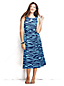 Women's Regular Patterned Midi Length Jersey Keyhole Dress