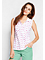 Women's Regular Classic Fit  Sleeveless Patterned Tipped Collar Pique Polo