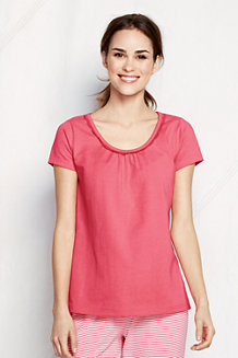 Women's Jersey Lace Trim Sleep Tee