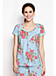 Women's Regular Jersey Lace Trim Floral Print Sleep Tee