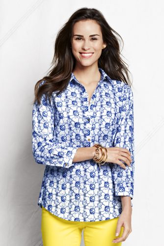 Women's Regular Three-quarter Sleeve Broderie Anglaise Tunic