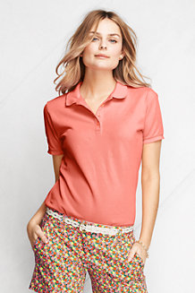 Women's Classic Fit Short Sleeve Garment Dyed Piqué Polo