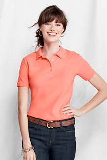 Women's Slim Fit Garment Dyed Pique Polo