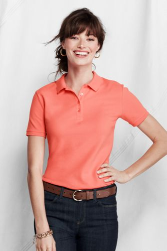 Women's Regular Slim Fit Garment Dyed Pique Polo