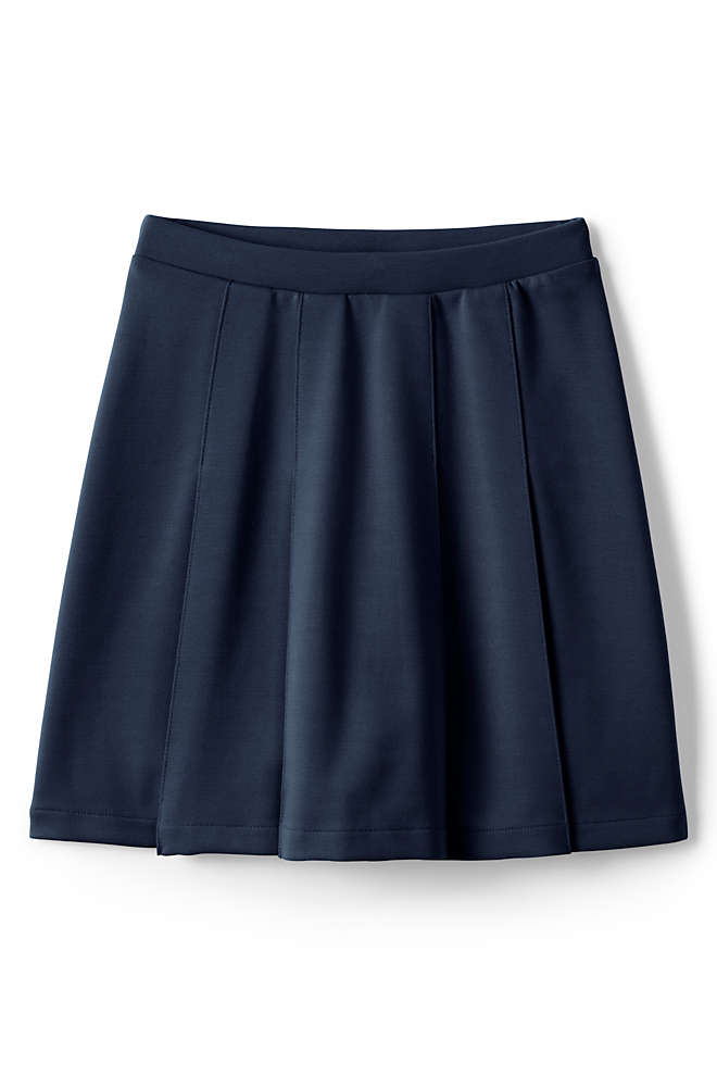 School Uniform Little Girls Ponte Pleat Skirt, Front