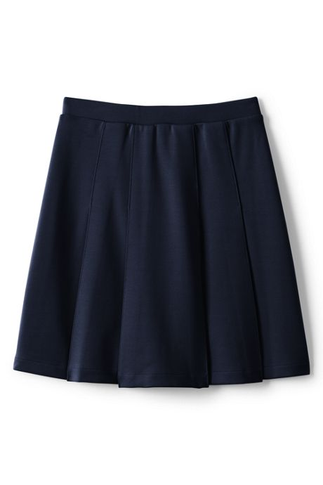 Little Girls Ponte Pleat Skirt