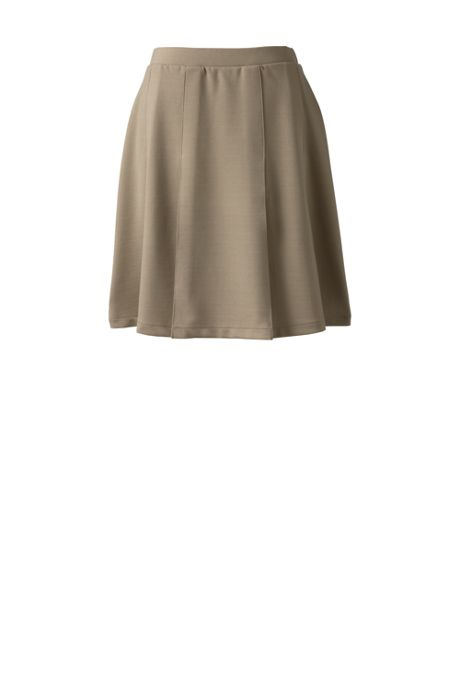 School Uniform Women's Ponte Pleat Skirt