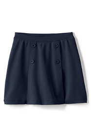 Girls Ponte Button Front Skort