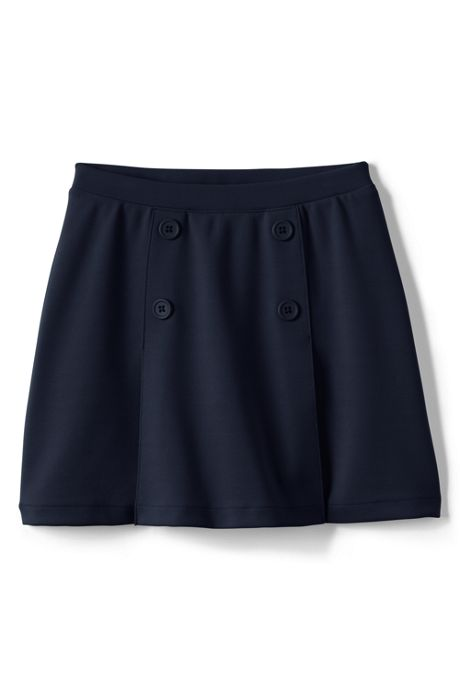 Little Girls Ponte Button Front Skort