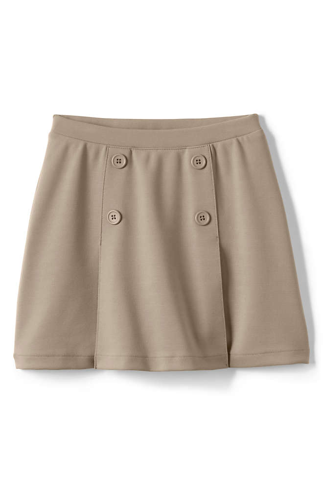 Girls Ponte Button Front Skort, Front