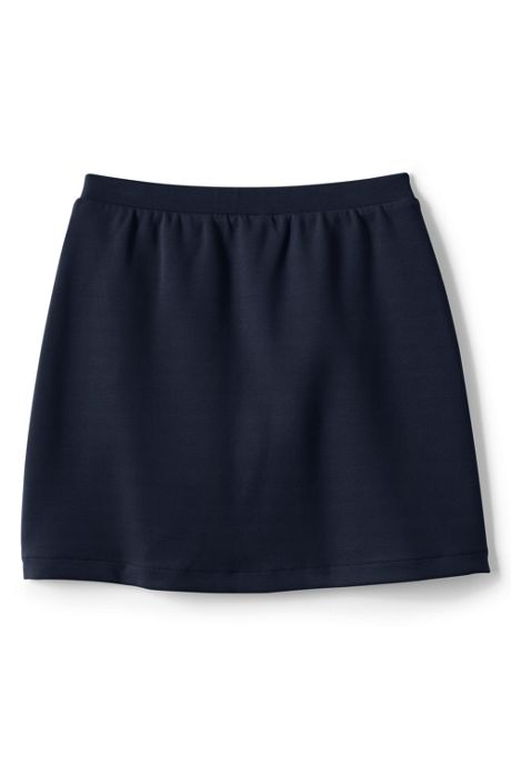 School Uniform Women's Ponte Button Front Skort