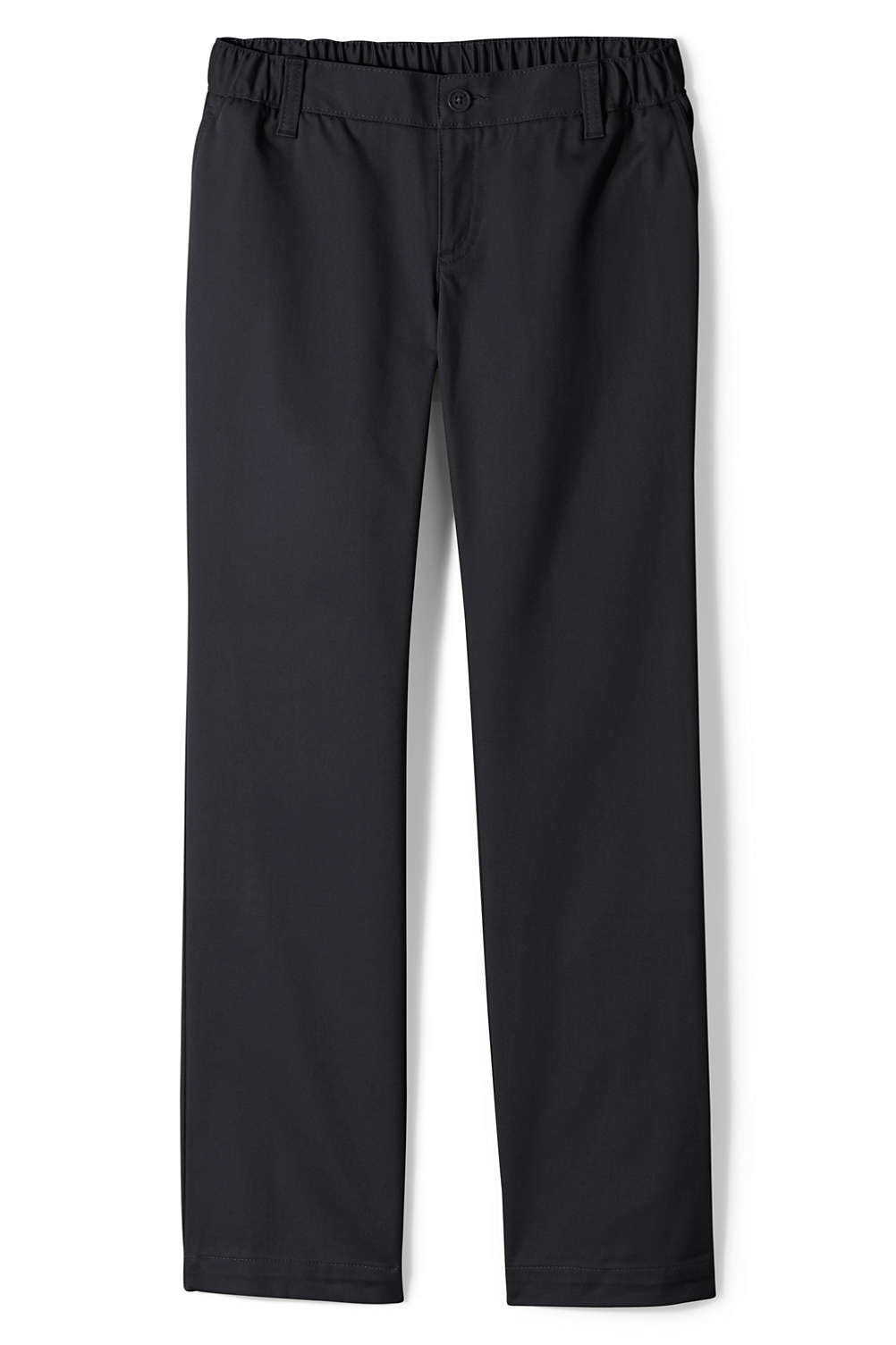 345367c9ae2 Girls Perfect Fit Iron Knee Blend Elastic Waist Chino Pants from Lands  End