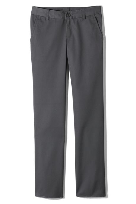 School Uniform Juniors Perfect Fit Plain Front Blend Chino Pants